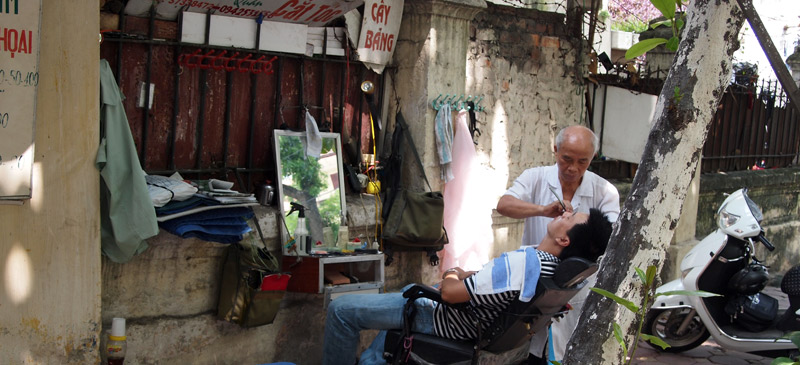 Wild and wacky places to get a shave around the world. Photo by William