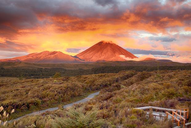 Sunset at Mt.Ngauruho, New Zealand