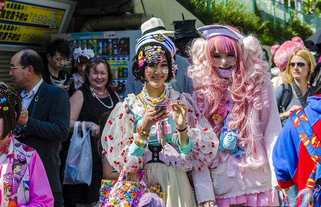 Japanese costume players at Harajuku, Tokyo