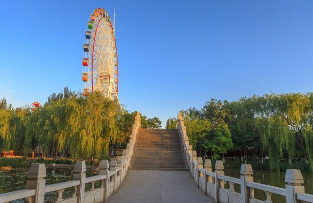 Ferris wheel at Zhongshan Park of Yin Chuan, China