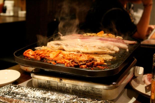 samgyeopsal - Korean fried pork belly